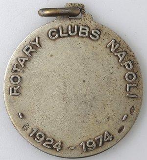 reverse: Medaglie. Napoli. Rotary International. Ag 925 dorato e smalti. R/ ROTARY CLUBS NAPOLI 1924-1974. Peso gr. 11,25. Diametro mm. 29,50. SPL+.