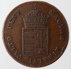 obverse: Monete Estere. Ungheria. 1 Krajczar 1848. Ae. Km. 430.1. Peso gr. 8,63. Diametro mm. 27.SPL.