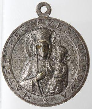 reverse: Medaglie. Roma. Giovanni Paolo II. 1978-2005. Medaglia. MB.  Opus Consonni. R/ MATER DEI CZESTOCHOWA. Peso gr. 14,35. Diametro mm. 32. SPL.