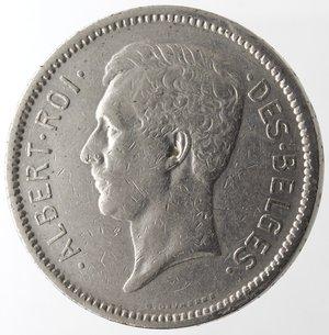 obverse: Monete Estere. Belgio. Alberto I. 1909-1934. 5 Franchi 1933. Scritte in francese. Ni. Km. 97.1. BB.