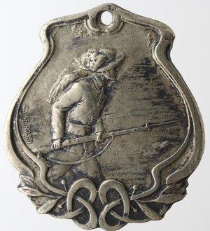 obverse: Medaglie. Società di Mutuo Soccorso Bolivar. Ag?. Peso gr. 9,40. Diametro mm. 28 x 30. SPL.