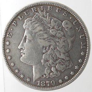 obverse: Monete Estere. Usa. Dollaro Morgan 1879. Ag. 900. Peso gr. 26,48. BB.