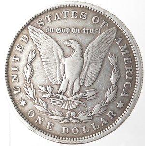 reverse: Monete Estere. Usa. Dollaro Morgan 1879. Ag. 900. Peso gr. 26,48. BB.