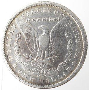reverse: Monete Estere. Usa. Dollaro Morgan 1881. Ag. 900. Peso gr. 26,24. MB.