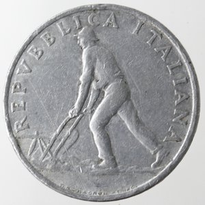 obverse: Repubblica Italiana. 2 lire 1946 Spiga. It. Gig.324. BB. Piccolo colpo al bordo. R.