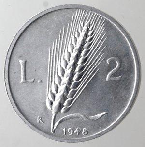 reverse: Repubblica Italiana. 2 lire 1948 Spiga. It. Gig 326. qFDC.