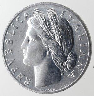 obverse: Repubblica Italiana. 1 lira 1948 Arancia. It. Gig 363. qFDC.