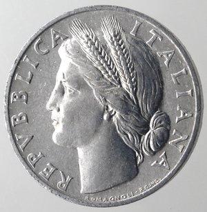 obverse: Repubblica Italiana. 1 lira 1949 Arancia. It. Gig 364. qFDC.