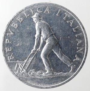 obverse: Repubblica Italiana.2 Lire 1950 Spiga. It. Gig 328.SPL. Graffio al diritto. Colpetti.