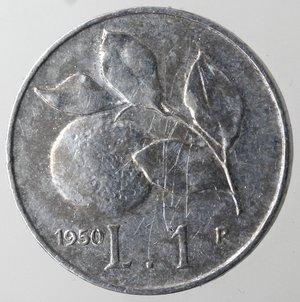 reverse: Repubblica Italiana.1 Lire 1950 Arancio. It. Gig 365.BB+.