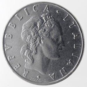 obverse: Repubblica Italiana.50 Lire Vulcano 1958. Ac. Gig. 147.BB.R.