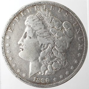 obverse: Monete Estere. Usa. Dollaro Morgan 1889 O. Ag. 900. Peso gr. 26,31. MB.