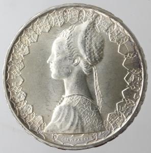obverse: Repubblica Italiana. 500 lire Caravelle 1964. Ag. Gig 12. qFDC.