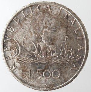 reverse: Repubblica Italiana. 500 Lire 1967 Caravelle. Ag. Gig. 15. FDC.