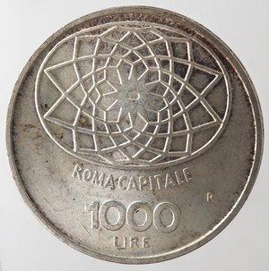 reverse: Repubblica Italiana. 1.000 lire Roma Capitale 1970. Gig. 1.  FDC.