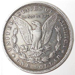 reverse: Monete Estere. Usa. Dollaro Morgan 1890. Ag. 900. Peso gr. 26,66. qBB.