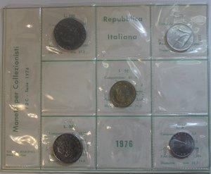 obverse: Repubblica Italiana. Serie divisionale 1976. Metalli vari. FDC.
