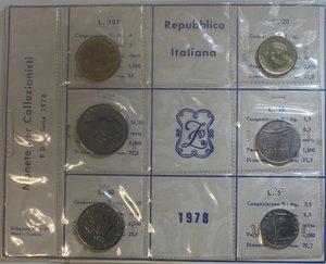obverse: Repubblica Italiana. Serie divisionale 1978. Metalli vari. FDC.