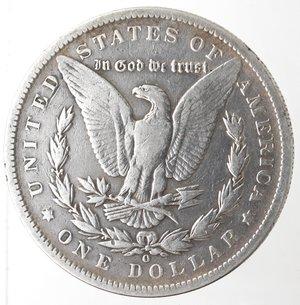 reverse: Monete Estere. Usa. Dollaro Morgan 1891 O. Ag. 900. Peso gr. 26,09. MB.