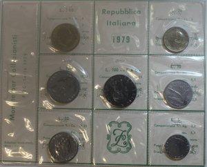 obverse: Repubblica Italiana. Serie divisionale 1979. Metalli vari. FDC.