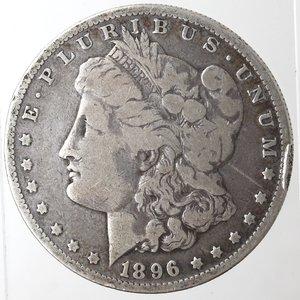 obverse: Monete Estere. Usa. Dollaro Morgan 1896 O. Ag. 900. Peso gr. 26,03. MB.