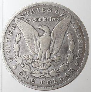 reverse: Monete Estere. Usa. Dollaro Morgan 1896 O. Ag. 900. Peso gr. 26,03. MB.