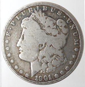 obverse: Monete Estere. Usa. Dollaro Morgan 1901 O. Ag. 900. Peso gr. 26,03. qMB.