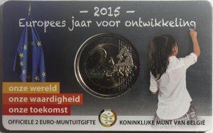 reverse: Monete Estere. Belgio. Coin Card 2 euro 2015. Bimetallica. FDC.