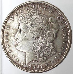 obverse: Monete Estere. Usa. Dollaro Morgan 1921. Ag. 900. Peso gr. 26,74. BB.