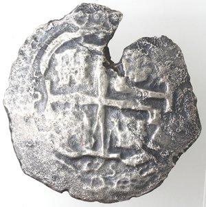 obverse: Monete Estere. Bolivia. Potosi . Carlo II Re di Spagna. 1665-1700. 8 Reales 1675. Ag. Marchio Saggiatore