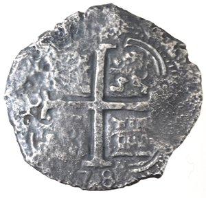 obverse: Monete Estere. Bolivia. Potosì. Carlo II Re di Spagna. 1665-1700. 8 Reales 1678. Ag. Marchio Saggiatore