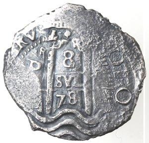 reverse: Monete Estere. Bolivia. Potosì. Carlo II Re di Spagna. 1665-1700. 8 Reales 1678. Ag. Marchio Saggiatore