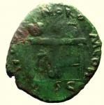 R/ Impero Romano Nerone. 54-68 d.C. Semisse. Lugdunum : D\ NERO CLAVD CAESAR AVG GERM Testa verso sinistra. R\ CER QVI-NQ RO-M CON / S C. RIC 487. Peso 4,3 gr. Diametro 21 mm. BB.