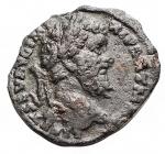 D/ Impero Romano - Settimio Severo (193-211) con Geta come Cesare. Denario. AE. 198 d.C. Zecca di Laodicea. d/ L SEPT SEV AVG IMP XI PART MAX Busto con testa laureata a ds. r/ L SEPTIMIVS GETA CAES Busto drappeggiato e corazzato con testa nuda a ds. RIC 506. C. (Settimio e Geta) 4 (Fr.60). AE. g 2,3. mm 18,3. RRR. Estremamente raro. BB. Patina verde grigia