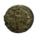 R/ Impero ROMANO Claudio II il Gotico. 268-270 d.C.: Antoniniano. D/ IMP C CLAVDIUS AVG Testa di Claudio verso destra con corona radiata. D\ IVNO REGINA. Peso 4,2 gr. Diametro 20,3 mm. BB+