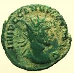 D/ Impero Romano Claudio II il Gotico (268-270 d.C.) Antoniniano : D/ IMP C CLAVDIVS AVG busto radiato verso destra. R/ IOVI STATORI stante nudo con fulmine e scettro. RIC.52.Peso 3,9 g. Diametro 20 mm BB+.