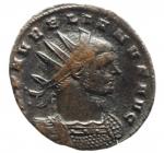D/ Impero Romano. Aureliano. 270-275 d.C. Æ Antoniniano. D/ IMP C AVRELIANVS AVG Busto radiato verso destra. R/ CONCORDIA MILITVM Aureliano e la Concordia si stringono le mani in esergo C. RIC 59. Peso 2,45 gr. Diametro 21,48 mm. BB.