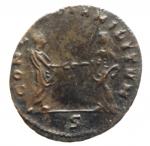 R/ Impero Romano. Aureliano. 270-275 d.C. Æ Antoniniano. D/ IMP C AVRELIANVS AVG Busto radiato verso destra. R/ CONCORDIA MILITVM Aureliano e la Concordia si stringono le mani in esergo C. RIC 59. Peso 2,45 gr. Diametro 21,48 mm. BB.