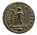 R/ Impero Romano. Probo. 276-282 d.C. Antoniniano. D\ PROBVS P F AVG. Busto radiato verso destra. R\ IOVI CONS PROB AVG in esergo R (fulmine) B. Zecca di Roma. RIC 175. Peso 2,8 gr. Diametro 20 mm. SPL+. Argentatura.