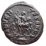 R/ Impero Romano - Probo. 276-282 d.C.Antoniniano. D/PROBVS P F AVG Busto a destra. R/ ADVENTVS AVG. Probo su cavallo andante a sinistra, alzando la mano destra (adventus) e tenendo uno scettro trasversale nella mano sinistra; ai piedi del cavallo un prigioniero seduto a sinistra con la testa girata verso destra. In esergo R fulmine Z. Zecca di Roma. Peso 3,3 gr. Diametro 21,3 mm.SPL+/qSPL. R