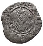 D/ Zecche Italiane - Berignone. Ranieri III Belforti vescovo (1301-1321). Denaro piccolo MI gr. 0,39. CNI 12/13. BB+ Patina verde. Molto Raro