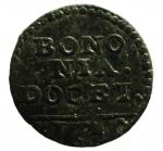D/ Zecche Italiane .Bologna. Benedetto XIV. 1740-1758. Quattrino 1740. AE. D/ BONONIA DOCET/1740. R/ Leone con vessillo. Peso 2,31 gr. BB.__
