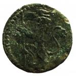 R/ Zecche Italiane .Bologna. Benedetto XIV. 1740-1758. Quattrino 1740. AE. D/ BONONIA DOCET/1740. R/ Leone con vessillo. Peso 2,31 gr. BB.__