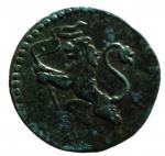 D/ Zecche Italiane .Bologna. Benedetto XIV. 1740-1758. Quattrino 1740. AE. D/ BONONIA DOCET/1755. R/ Leone con vessillo. Peso 1,93 gr. BB+.__