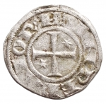 R/ Zecche Italiane - Brindisi. Enrico VI. 1190-1198. Denaro. D/ AP. R/ Croce. Sp. 30. MI, Peso 0.84 gr. BB+. Piena argentatura