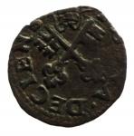 D/ Zecche Italiane. Desana. Agostino Tizzone (1559-1582). Quattrino al tipo di Bologna. Ciavaglia 9. R. AE. Peso 0,55 gr.MIR 485.BB+__