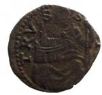 R/ Zecche Italiane. Desana. Agostino Tizzone (1559-1582). Quattrino al tipo di Bologna. Ciavaglia 9. R. AE. Peso 0,55 gr.MIR 485.BB+__