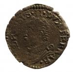 D/ Zecche Italiane. Ferrara. Alfonso II d'Este (1559-1597). Sesino. MIR 324. MI. g. 0.76 R. MB+.__