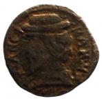 D/ Zecche Italiane . Mantova. Francesco II. 1484-1519. Quattrino. CU. D/ Busto con berretto a sn. R/ Sacra Pisside. MIR 436. Peso gr. 1,84. BB. NC.__