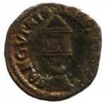 R/ Zecche Italiane . Mantova. Francesco II. 1484-1519. Quattrino. CU. D/ Busto con berretto a sn. R/ Sacra Pisside. MIR 436. Peso gr. 1,84. BB. NC.__